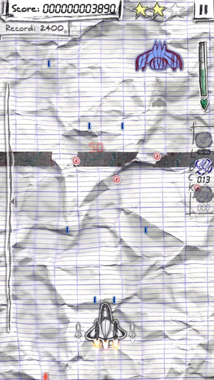 Shock-X. - Space shooter wars paper Screenshot