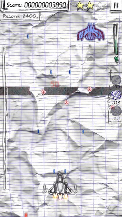Shock-X. - Space shooter wars paper screenshot-4