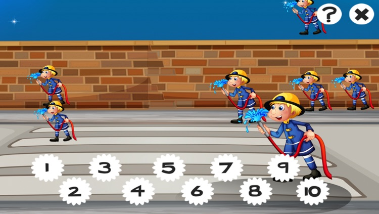 A Firefighter Counting Game for Children: Learning to count with firemen screenshot-3