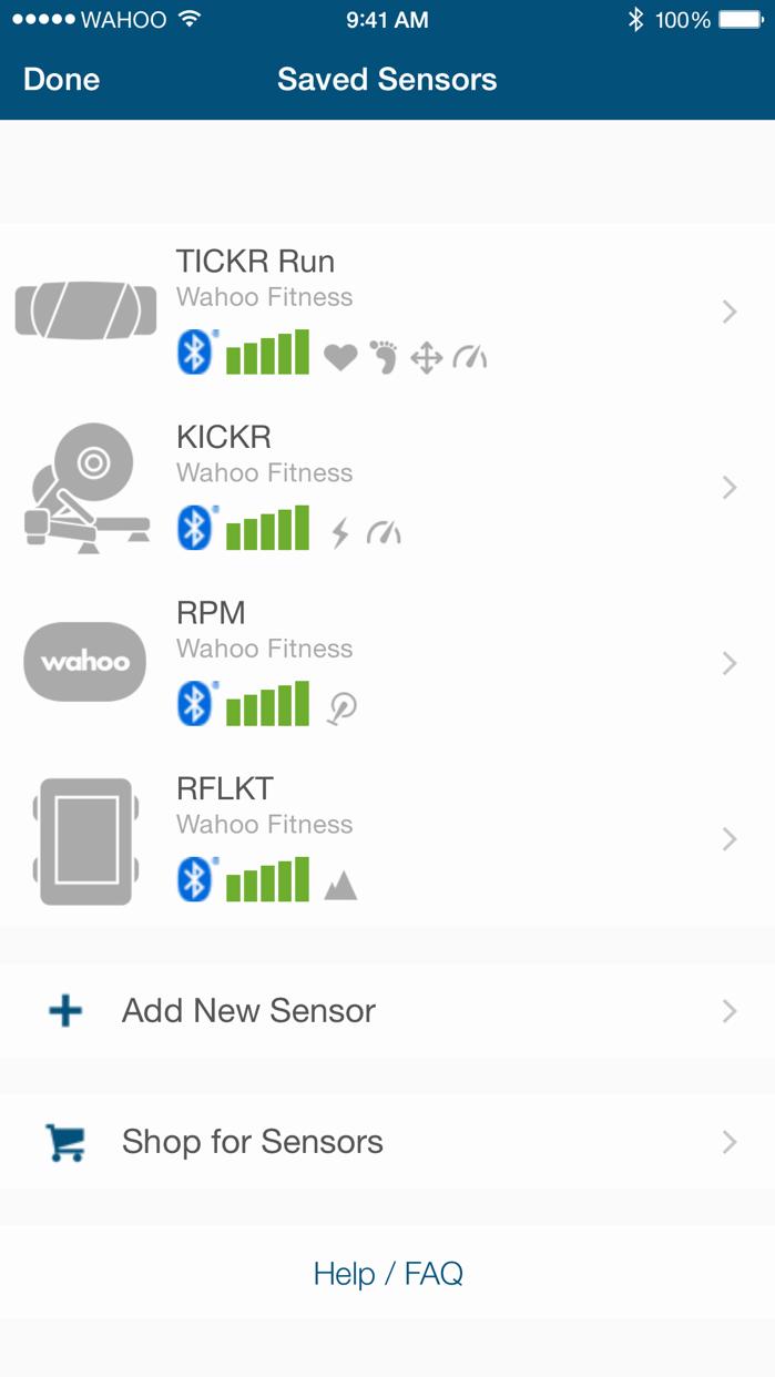 Wahoo Fitness Screenshot