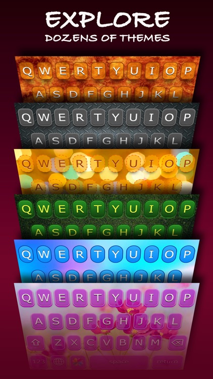 AwesomeKey ™ color theme keyboard for iOS 8