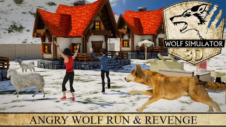 Wolf Simulator 3D - Revenge of Wild Beast and Animals Hunting Attack Game in Winter Snow Farm screenshot-4