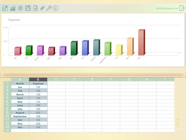 TabChart - edit spreadsheets and generate 3D charts screenshot-4