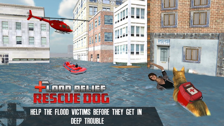 Flood Relief Rescue Dog : Save stuck people lives screenshot-2