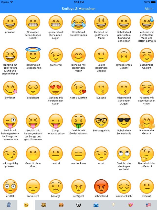 Bedeutung smileys whatsapp deutsch