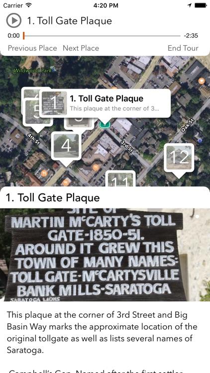 The City of Saratoga History App