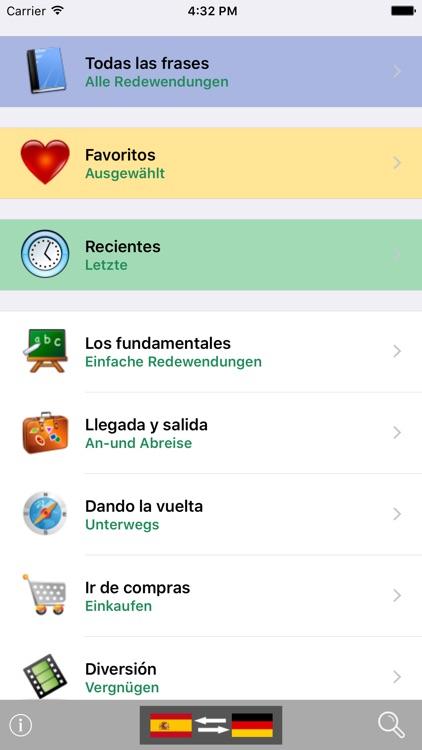 Spanish / German Talking Phrasebook Translator Dictionary - Multiphrasebook screenshot-0