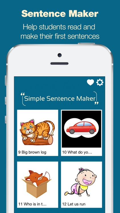 Simple Sentence Maker - Read and Build Your First Sentences