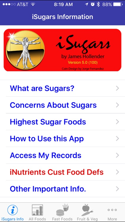 iSugars - iNutrient: Sugars screenshot-0