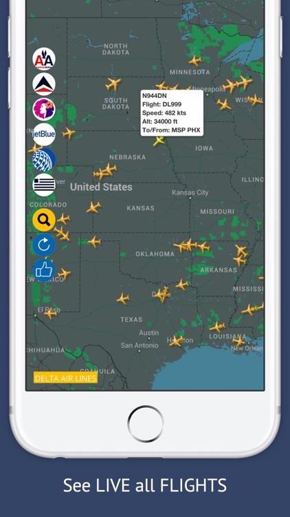USA Tracker Free : Live Flight Tracking & Status