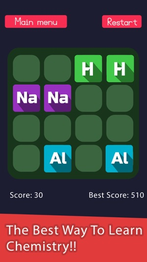2048 in periodic table a chemistry puzzle game on the app store screenshots urtaz Image collections