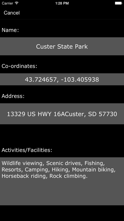 South Dakota State Parks & Recreation Areas