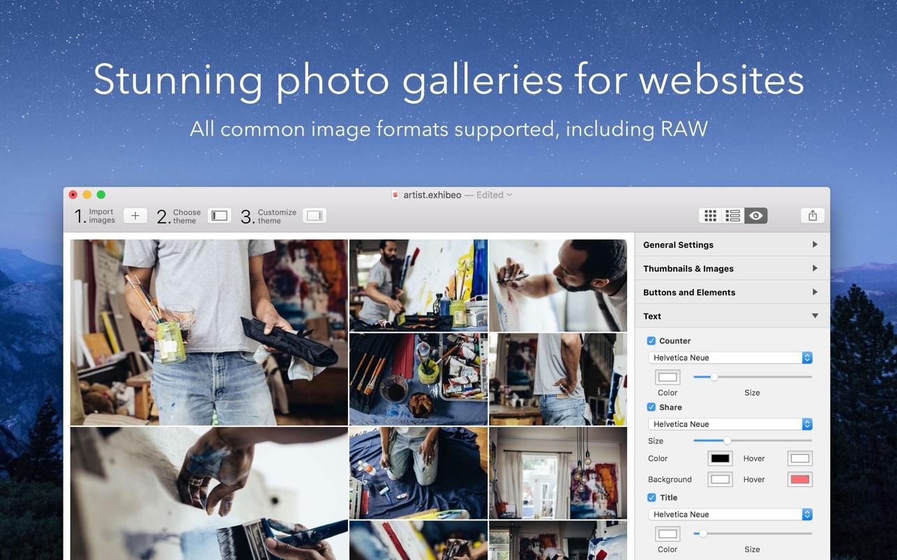 Exhibeo 2.0.4 Mac 破解版 Mac平台响应式网页图片布局制作工具