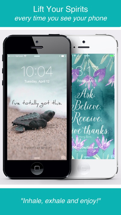 Every Day Spirit® Lock Screens - Inspirational Wallpaper / Wisdom Quotes / Beautiful Backgrounds / Motivational Wallpapers screenshot-3