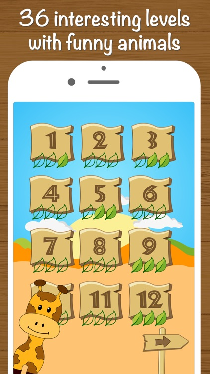Safari Math - Addition and Subtraction game for kids screenshot-2