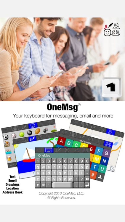 OneMsg - Your keyboard for messaging, email and more