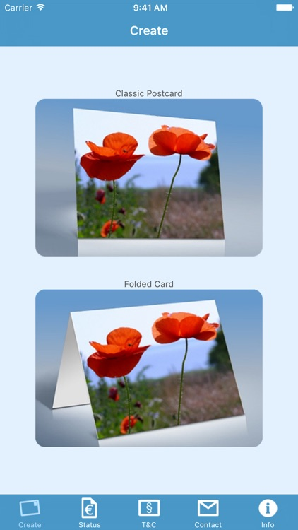 SmartCards - send real postcards and folded cards