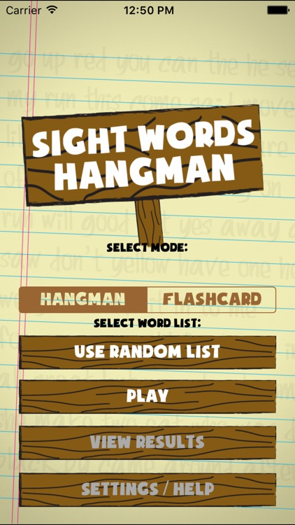 Sight Words Hangman screenshot-0