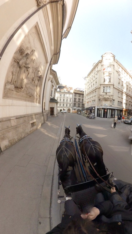 VR Virtual Reality Through Vienna in a Horse-Drawn Carriage - Fiaker Part 1 screenshot-4