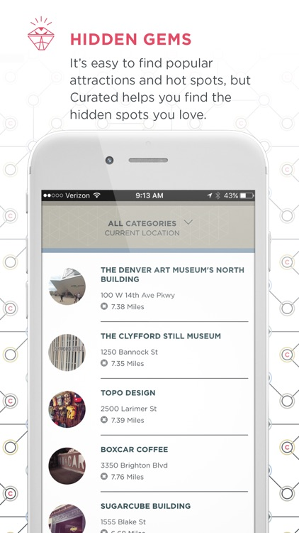 Curated: A city guide for the creative-minded traveler; curated by AIGA Colorado designers.