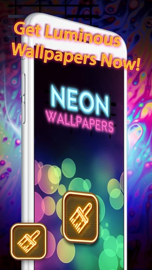 Cool Neon Wallpapers Glowing And Sparkling Backgrounds For Retina Home Screen Free On The App Store