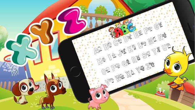 Abc Tier Alphabet Malvorlagen Schreiben - Lernspiel Für Kinder Edu ...