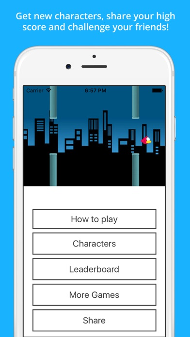 Clumsy Bird - The Trump Jumping And Switch Color Notification Widget Gameのおすすめ画像3