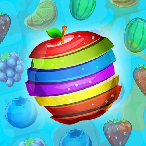 Fruit Juice Rush. Splash Salad In The Smash Puzzle For Sugar Ninjas