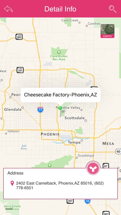 Great App for Cheesecake Factory