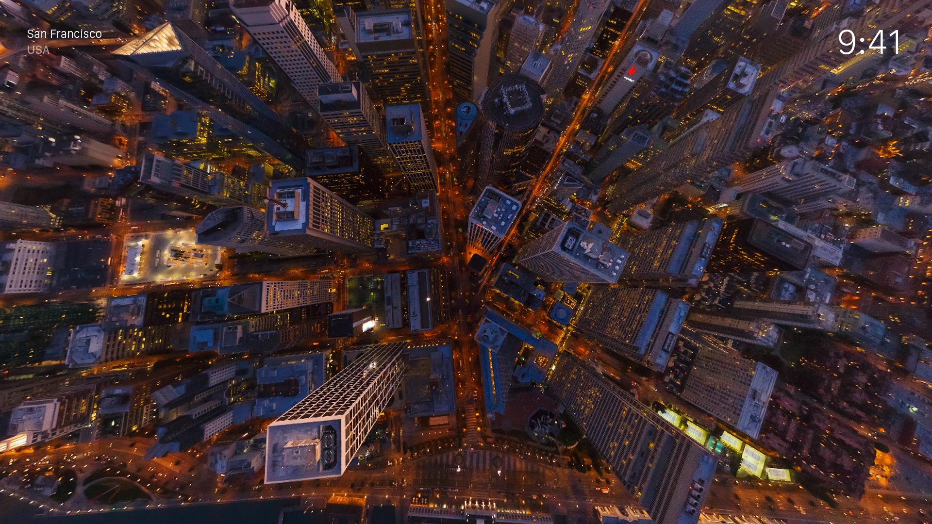 AirPano Night – Aerial Screensavers screenshot 3