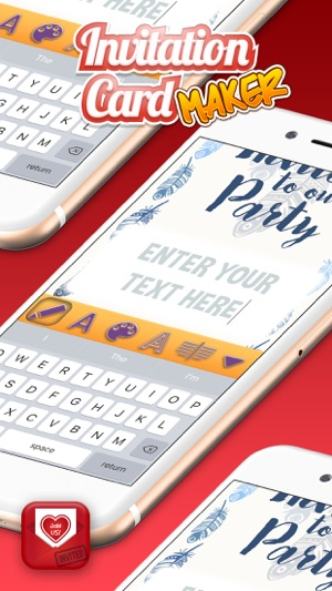 Invitation cards maker create best invitations and greetings for iphone ipad stopboris Gallery