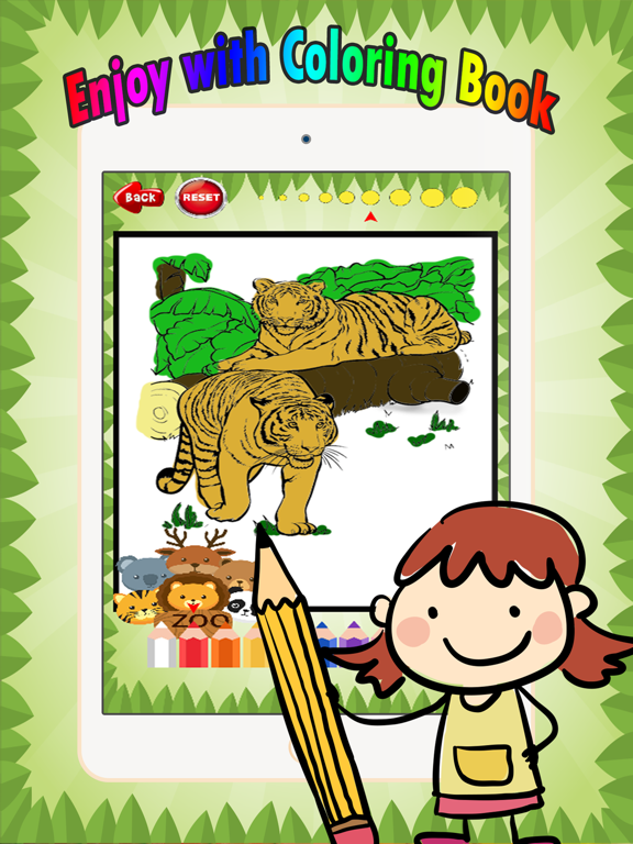 Wild animals Coloring Book: These cute zoo animal coloring pages