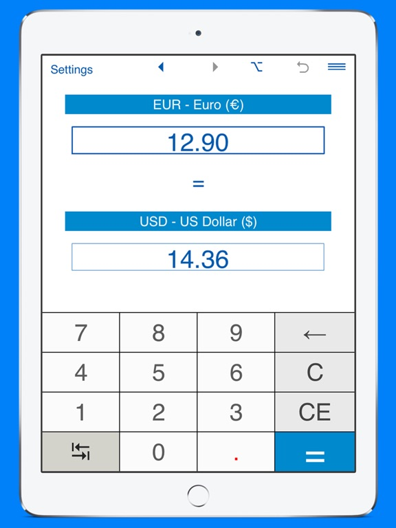 Screenshot 1 For Us Dollars To Euros And Eur Usd Converter