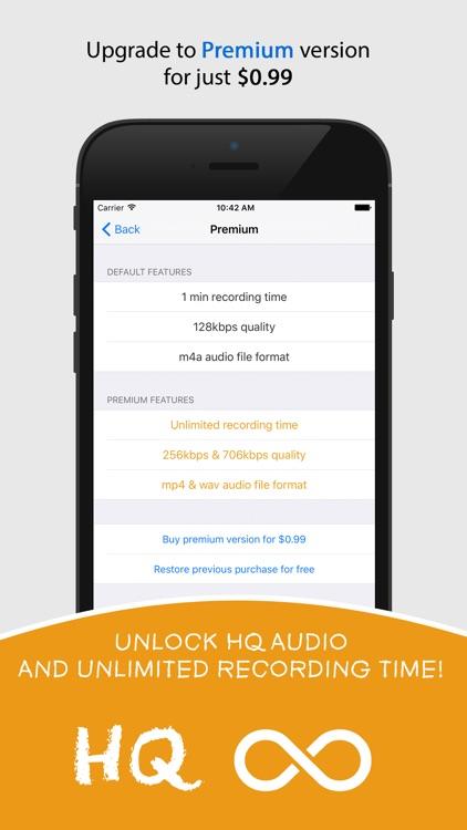 Watch Recorder — One Tap Audio Capturing screenshot-4