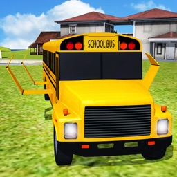 Flying School bus Simulator game