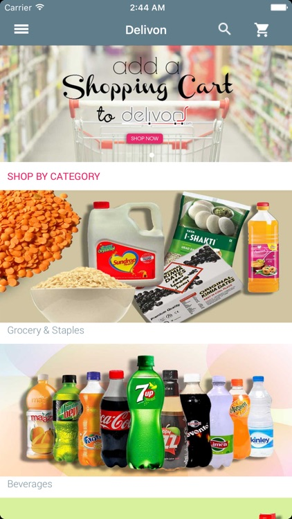 delivOn - Online Grocery screenshot-0