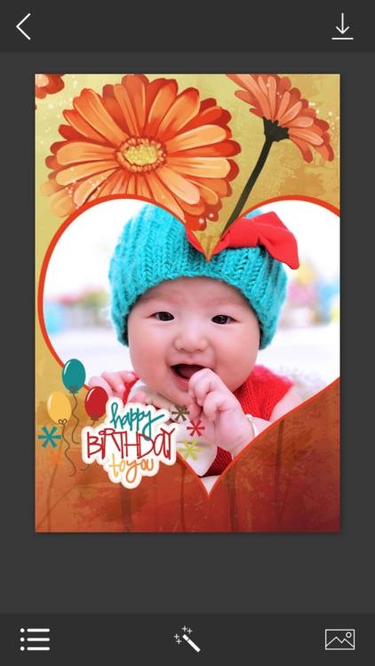 Birthday Photo Frame - Photo frame editor screenshot-3