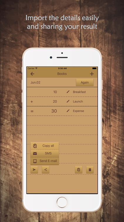 Remark calculator- store the history, editing and notes of each operation content, scale, live voice broadcast