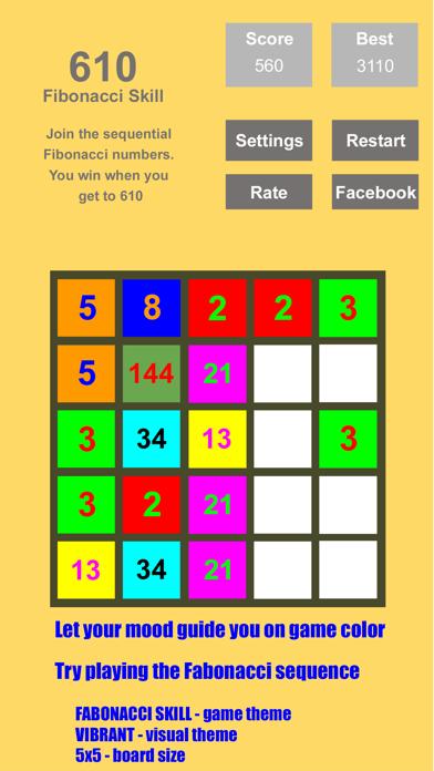 Tri-Sum 2048 - Fun & Cool Math Puzzle Addition Games including Fibonacci Numbers screenshot two