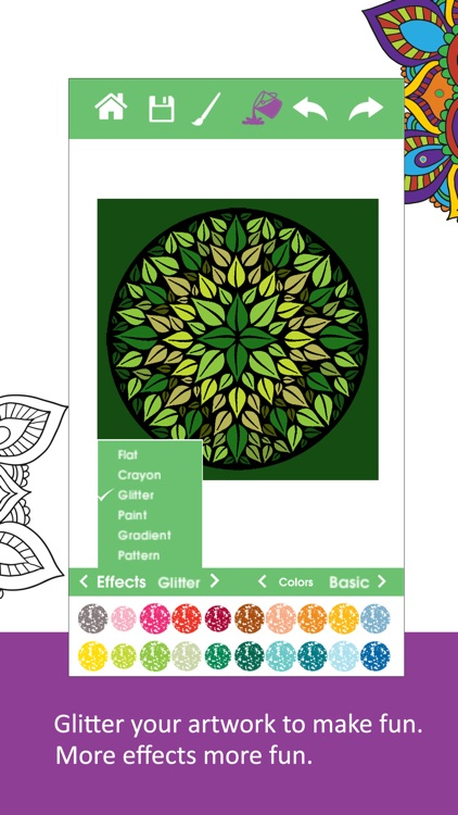 Color Ring-Free adult coloring book and best art therapy for canvas and flowers screenshot-3
