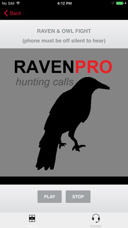 REAL Raven Hunting Calls - 7 REAL Raven CALLS & Raven Sounds! - Raven e-Caller - Ad Free - BLUETOOTH COMPATIBLE screenshot-1