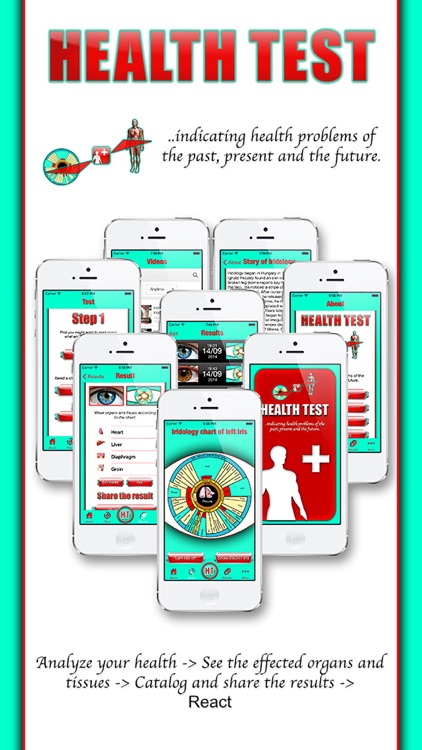 Health Test - The iridology app