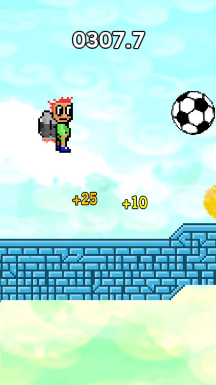 Jetpack Dribble Hero - endless soccer ball kick