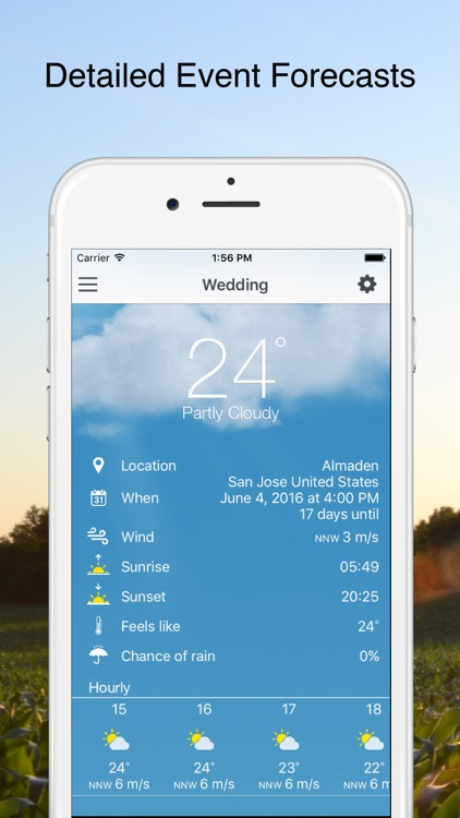 Weather Day - Long Range Forecast for Special Days, Events and Weddings