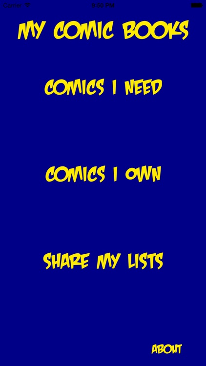 My Comic Books