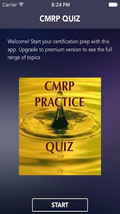 Study Quiz for CMRP