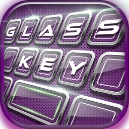 Glass Keyboard! - Personalize Your Keyboard with Colorful Themes, Cool Fonts and Emoji Art