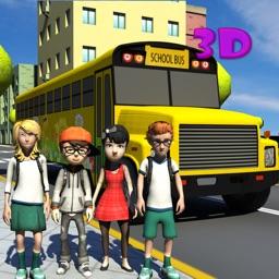 Kids School Bus Learning Driver 3d simulator