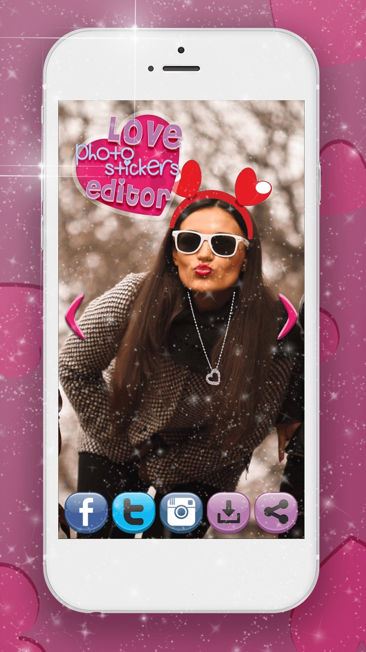 Love Stickers Photo Editor Decorate Your Photos With