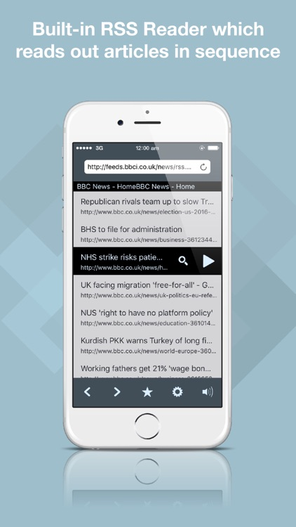 Echo Browser Free - Text to Speech Web Browser and RSS Reader screenshot-4